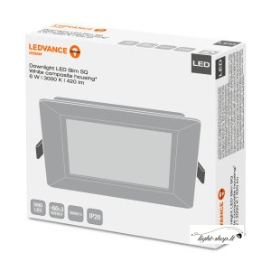 LED panelė OSRAM SLIM SQUARE 6W 3000K