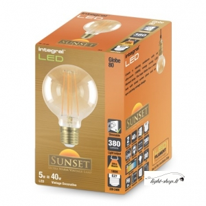 Sunset Vintage Globe 80mm 5W (40W) 1800K 380lm E27 Dimmable Lamp
