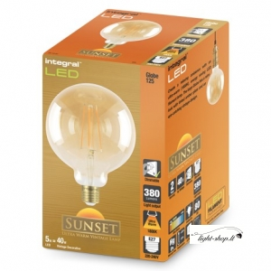 Sunset Vintage Globe 125mm 5W (40W) 1800K 380lm E27 Dimmable Lamp