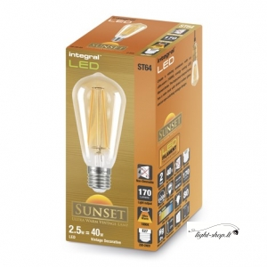 Sunset Vintage ST64 2.5W (40W) 1800K 170lm E27 Non-Dimmable Lamp